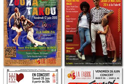 Affiches Concert La FabriK