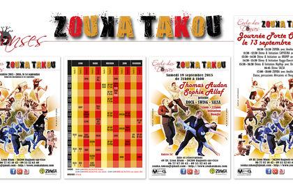 Flyers pour l'école des danses ZOUKA TAKOU