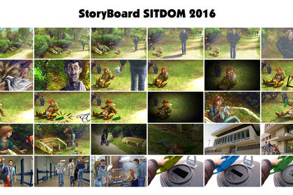Storyboard pour un clip SITDOM