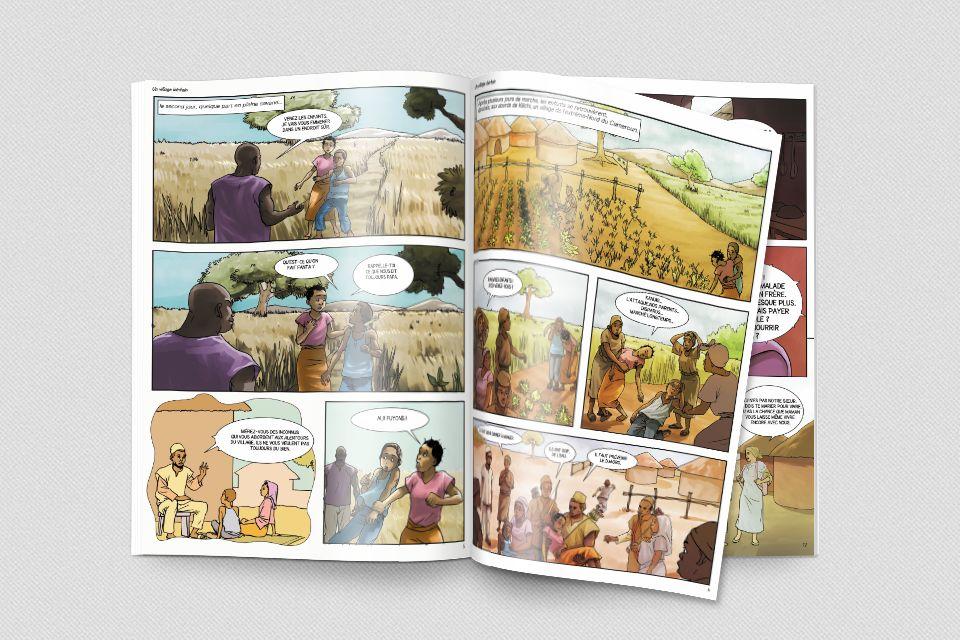 Bande dessinée sur la protection des enfants
