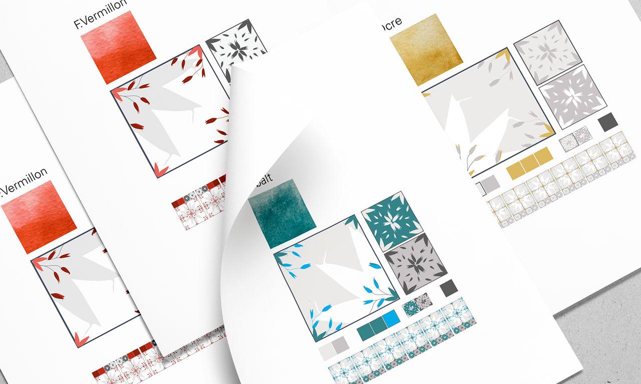 Dessin, Motifs floraux et Déclinaison couleurs