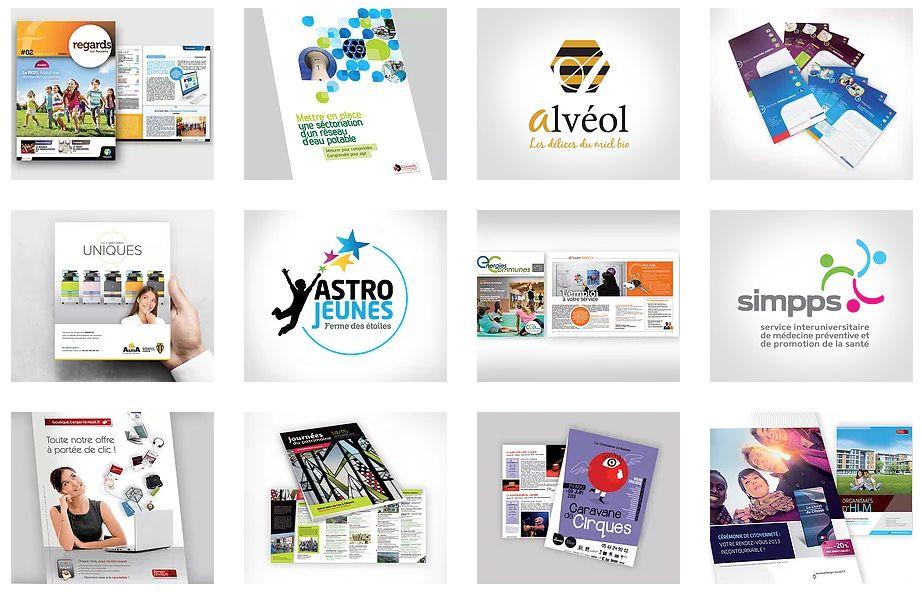 Création de plaquettes, flyers, logotypes…