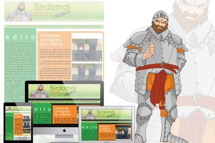 Site et mascotte Sirdomdi