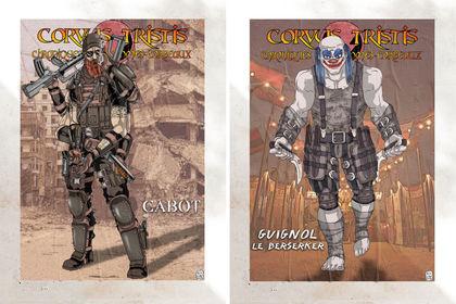 Posters personnages corvus tristis