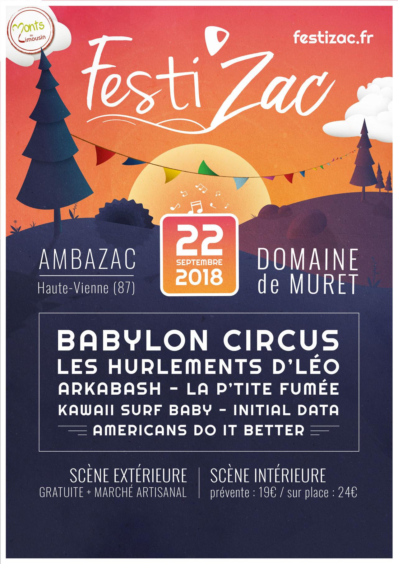 Affiche Festival Festi'Zac