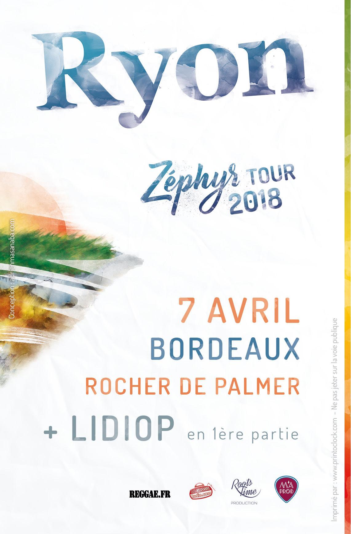 Flyer Ryon concert à Bordeaux