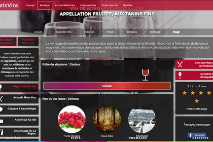 HoMetsvins site d'accords entre mets et vins