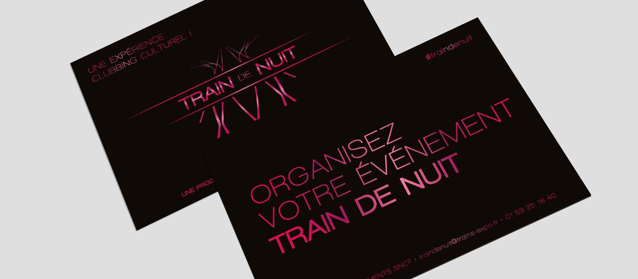 """Identité visuelle """"Train de nuit"""""""