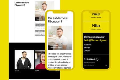 Web : One page fibonacci