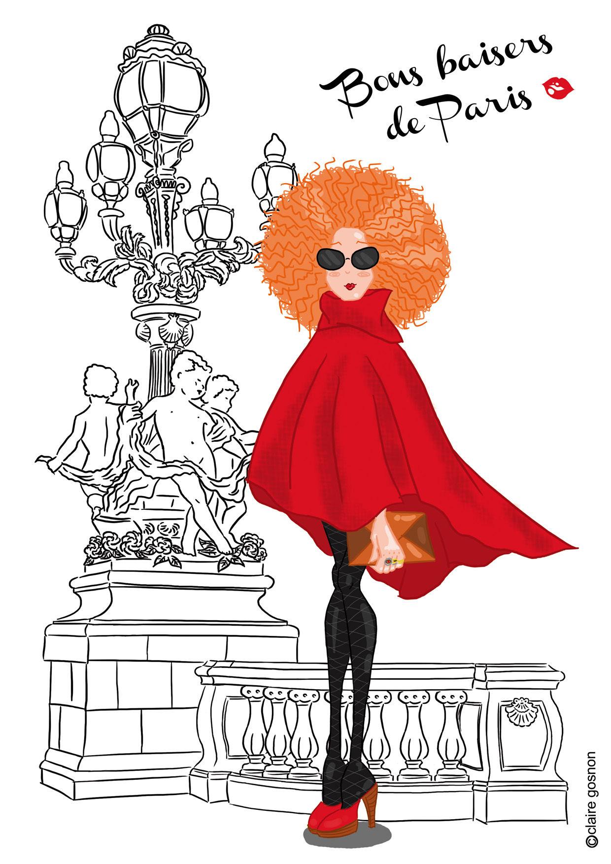 Parisienne qui prend la pause