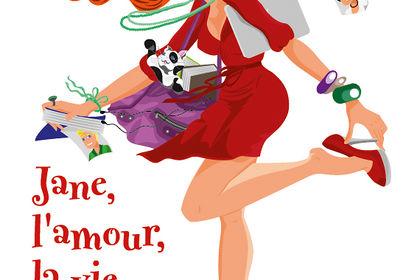 Illustration femme parisienne pour la Chick Lit (l