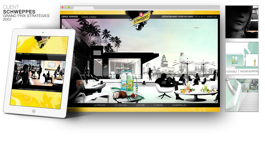 Site SCHWEPPES 2007