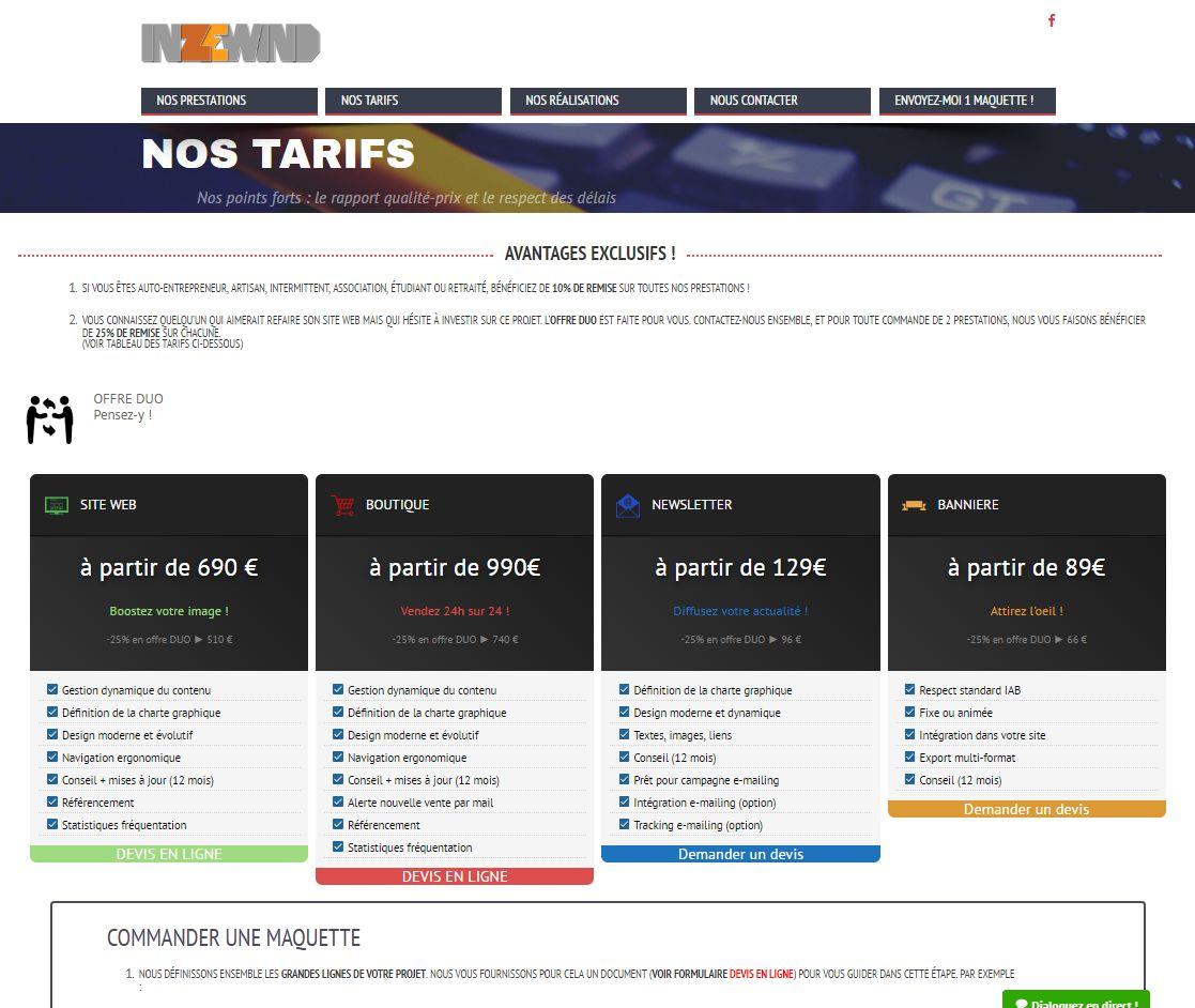 Site web Inzewind