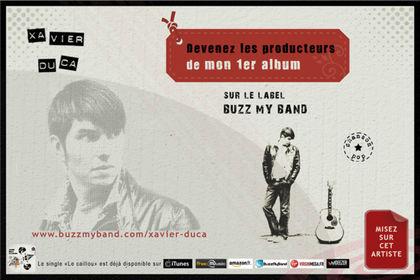 Flyer web artiste Xavier Duca
