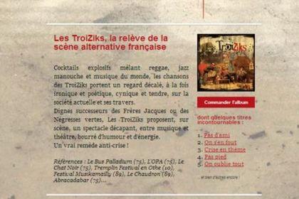 Newsletter pour Les Troiziks