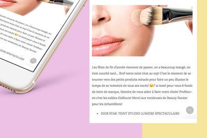 Webdesign - blog beauté / cuisine