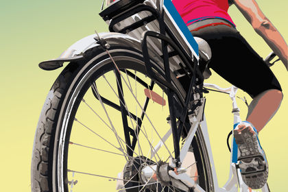 Affiche location de vélos électriques