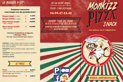 Dépliant pour une pizzeria