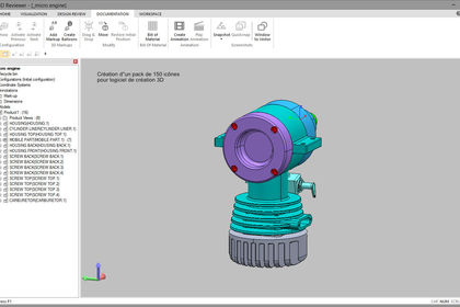 Design d'interface Logiciel 3D