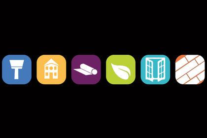 Icones pour différents services d'entreprise