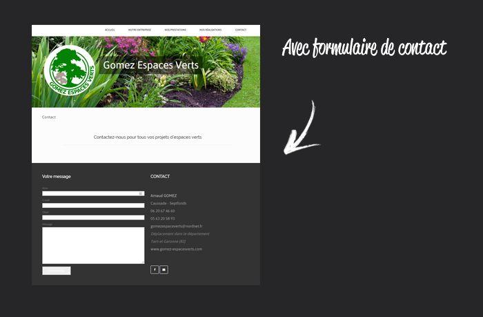 Site internet pour une entreprise d'espaces verts