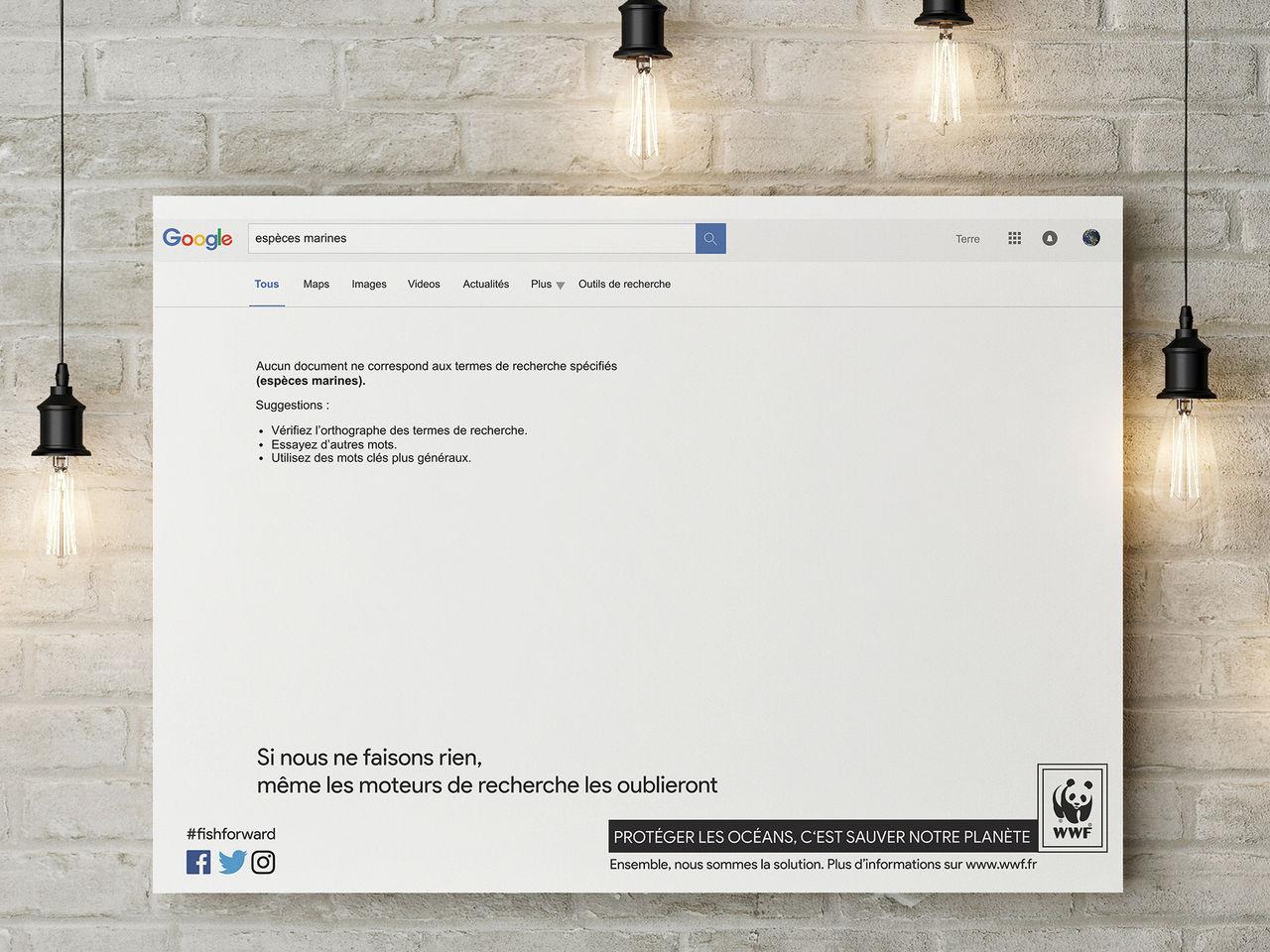 Affiche Google requête