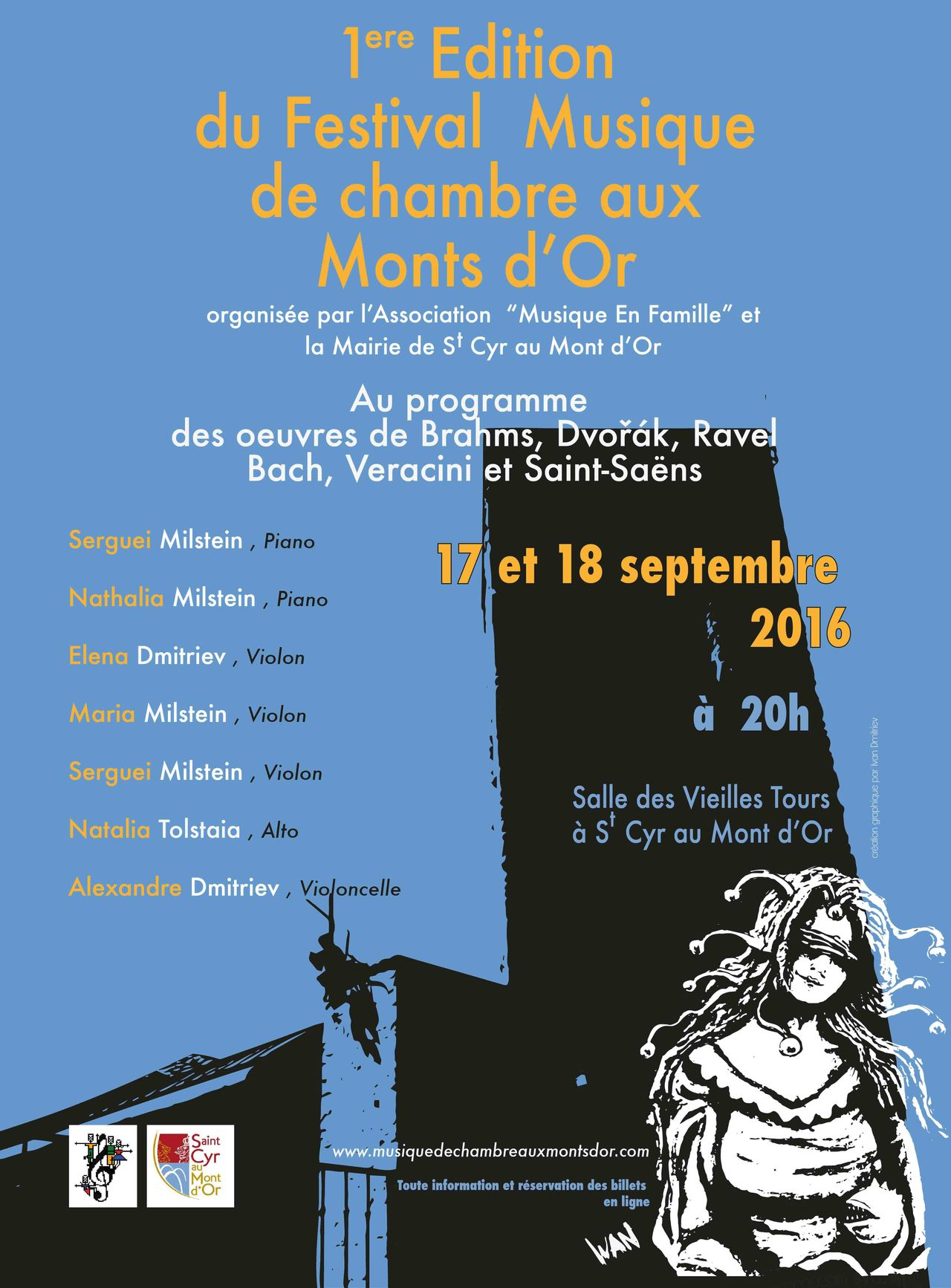 Affiche Festival Musique de chambre aux Monts d'Or