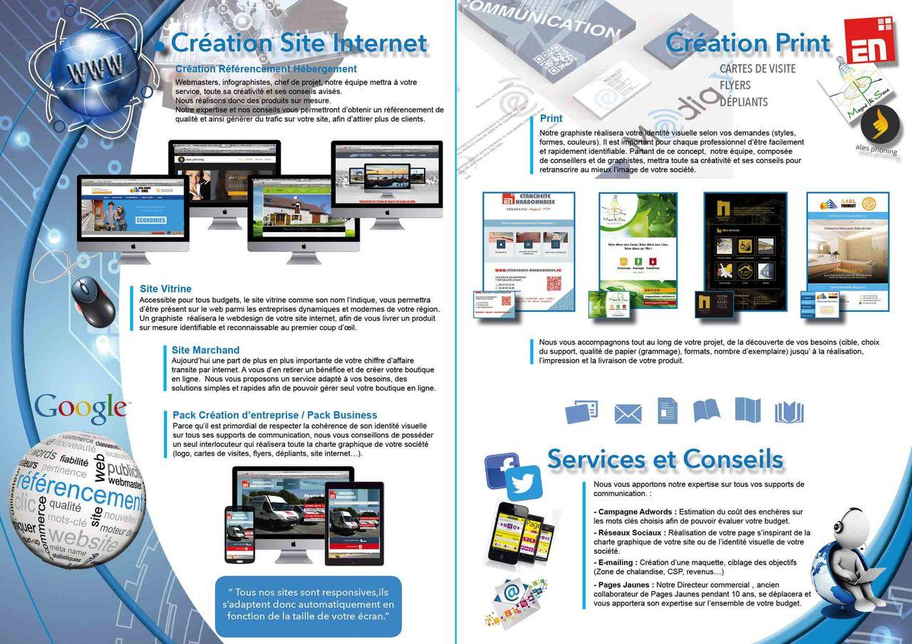 Plaquette commerciale agence MédiaXV  intérieur
