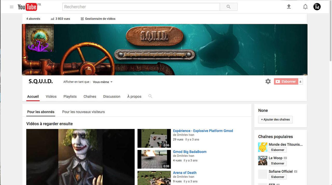 Création bannière et logo pour chaîne youtube