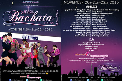 Paris Bachata Festiva 2015 - Flyer Recto/Verso