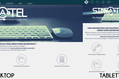 Sin@tel - Site Web Responsive