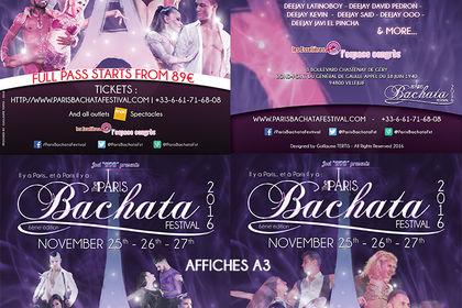 Paris Bachata Festival 2016 - Flyer et Affiches