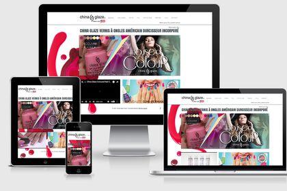 Site vitrine pour une marque américaine de cosméti