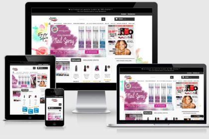 Site e-commerce cosmétiques
