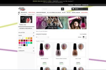 Aperçu page e-commerce