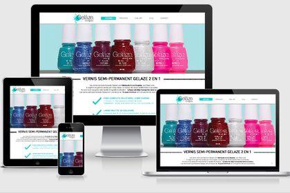 Site vitrine d'une marque américaine de cosmétique