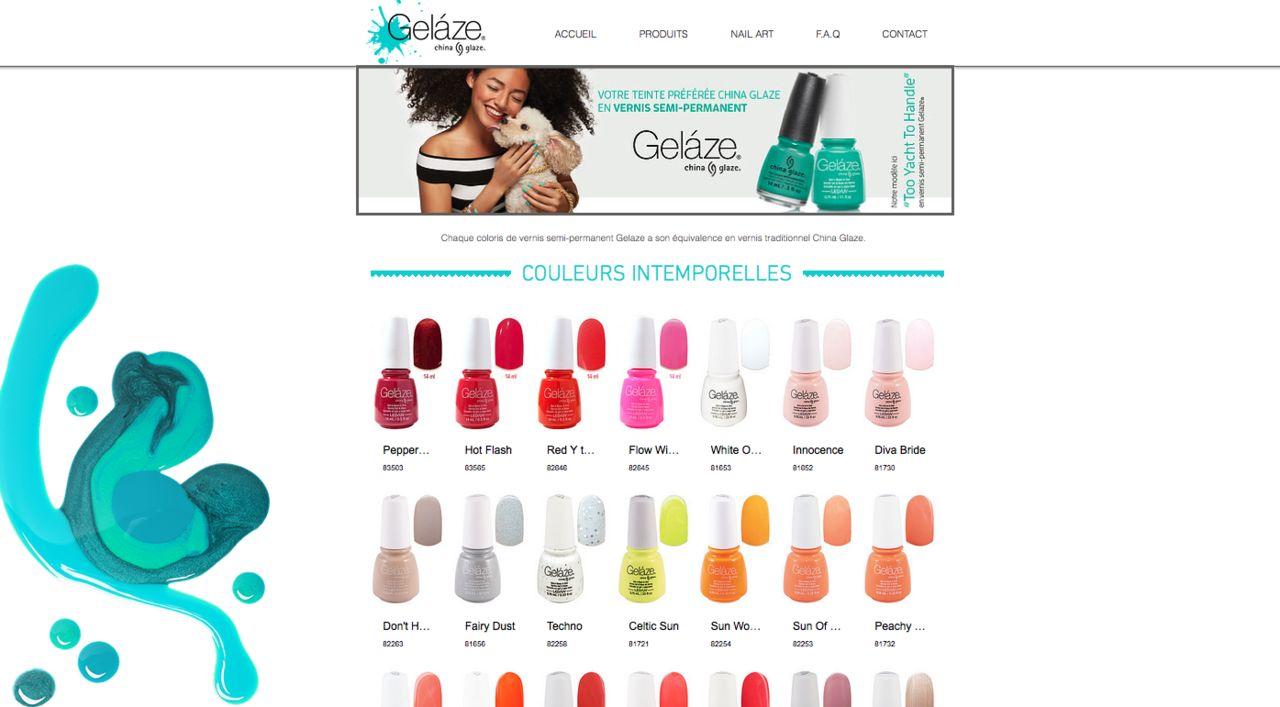 Aperçu page site vitrine cosmétiques