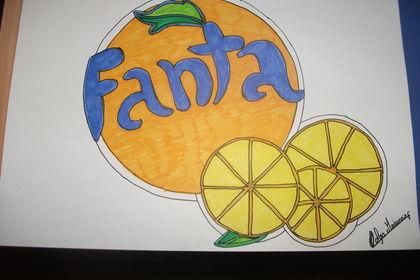 Marque Fanta dessiner