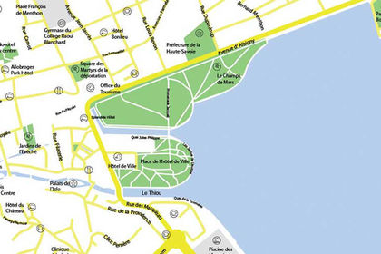 Plan de la Ville d'Annecy