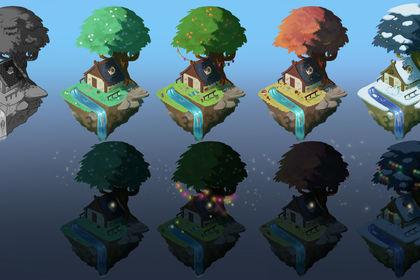 Concept Maison au fil des saisons