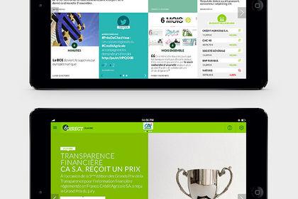 Crédit Agricole Ipad + Mobile