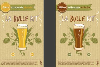 Réalisation d'étiquettes de Bière La bulle rit