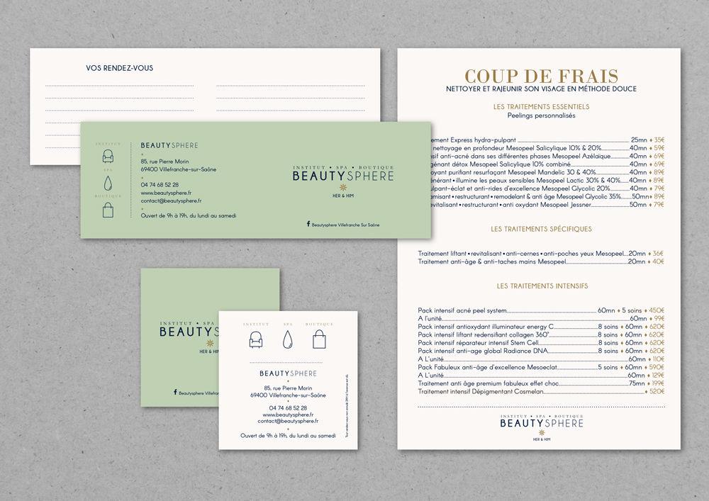 Identité visuelle & outils institut de beauté