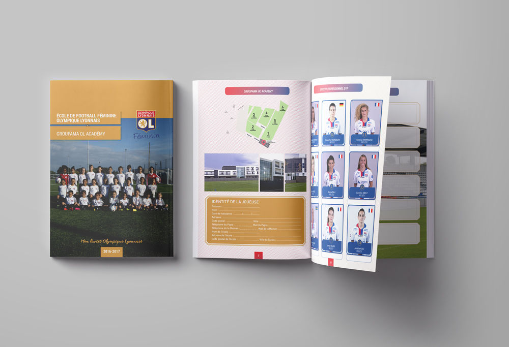 Livret broché club de football