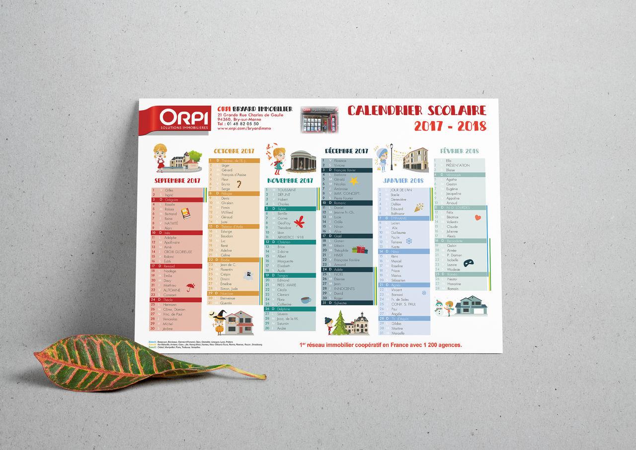 Calendrier scolaire ORPI