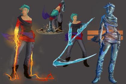 """FALL into DESPAIR"" Character design composing"