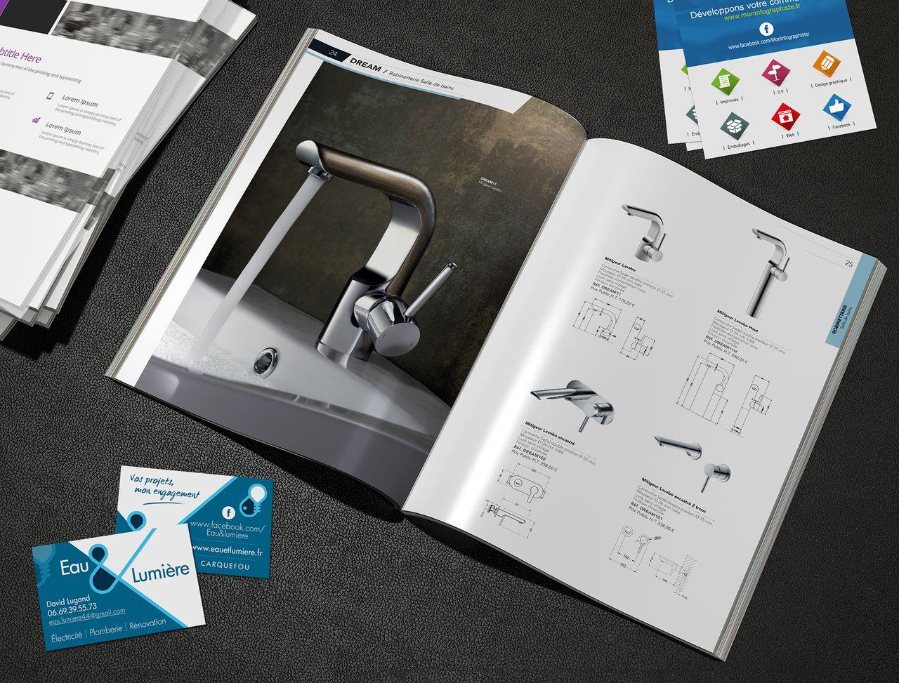 Réalisation de catalogues et de supports imprimés