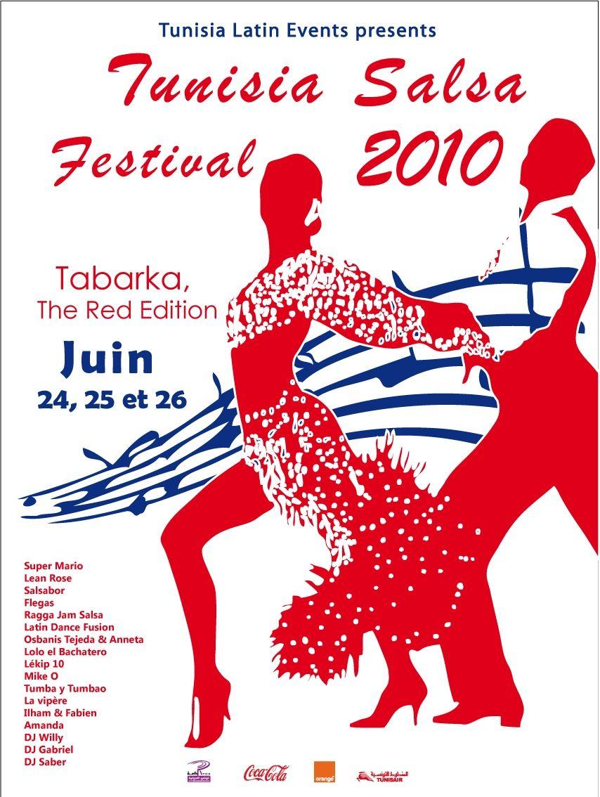 Affiche tunisia salsa festival