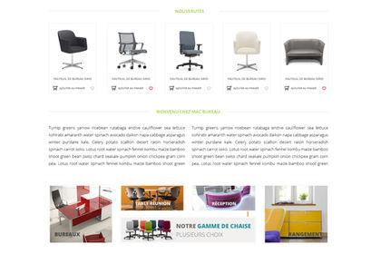Site wordpress de vente de mobilier de bureau