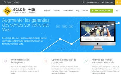 Site wordpress d'une agence web
